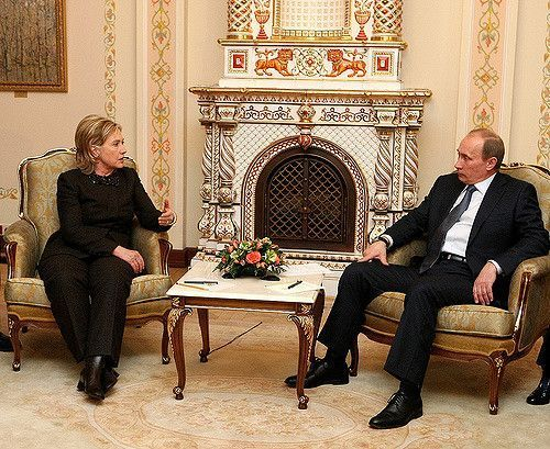 Hillary Clinton and Vladimir Putin (State Department Photo)