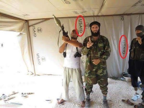 ISIS with USAID tents