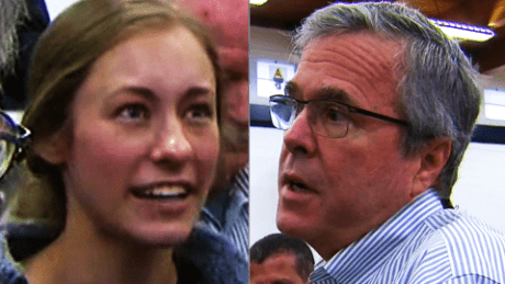 Ivy Ziedrich and Jeb Bush CNN