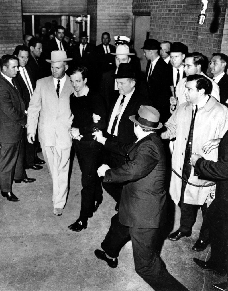 Jack Ruby Shooting Oswald Full view