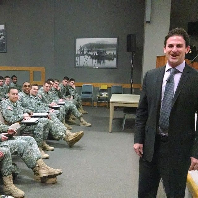 Google's Jared Cohen at West Point, Feb. 26,2014 (Eric Schmidt photo via Instagram)