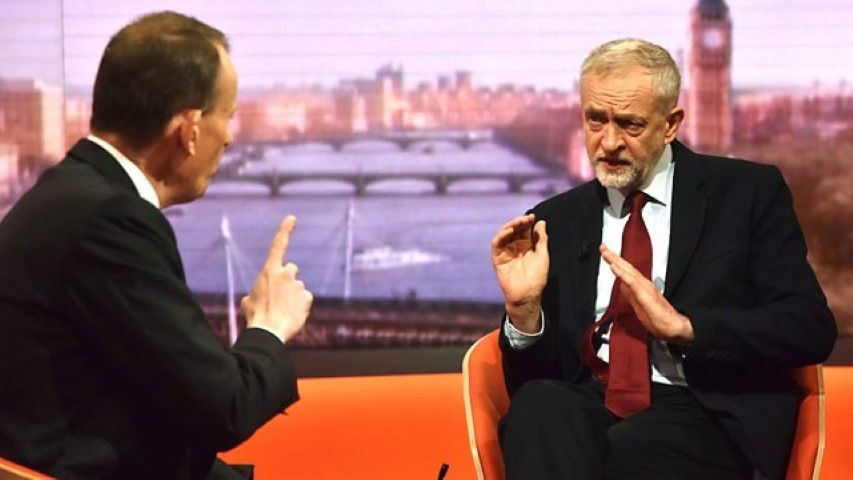 Jeremy Corbyn and BBC host Alan Marr BBC 11-29-2015