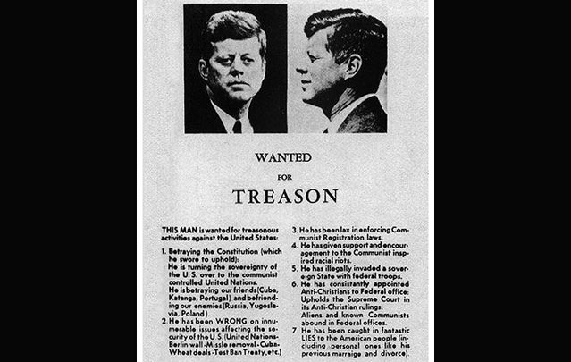 JFK Wanted for Treason handbill 1963