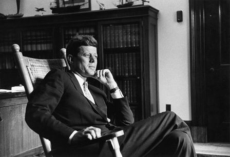 Senator John F. Kennedy 1959 Senate office Look Magazine JFK Library