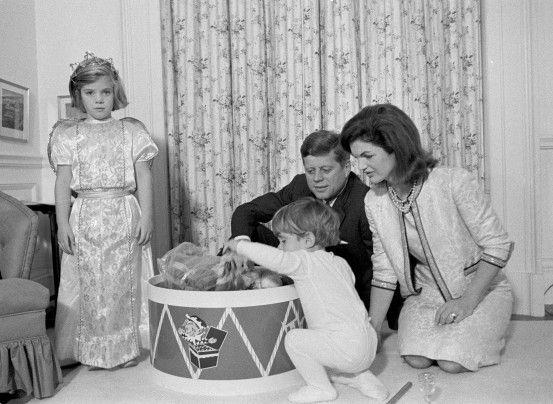 John F. Kennedy, Jacqueline, Caroline and John