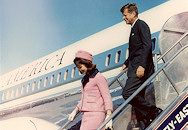 JFK and Jacqueline landing at Dallas