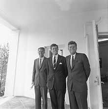 Kennedy Brothers Bobby, Ted and Jack at White House
