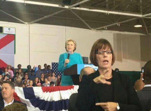 debbie wesson gibson hillary clinton rally
