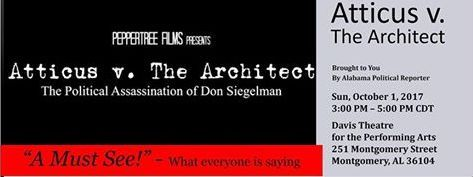 "Don Siegelman ""Atticus versus The Architect"" poster"