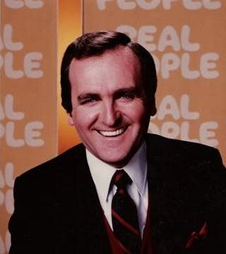 "John Barbour as co-host of ""Real People"""