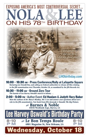 Lee Harvey Oswald-Judyth Vary Baker event in New Orleans, Oct. 18, 2017