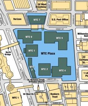 wtc map seven buildings