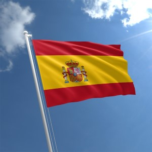 Spanish flag waving