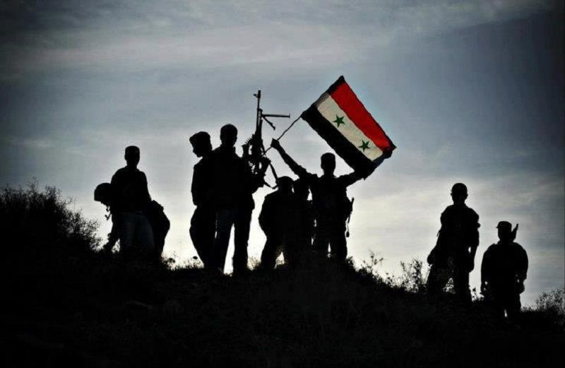 syrian army flag silouette
