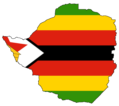 Zimbabwe flag map
