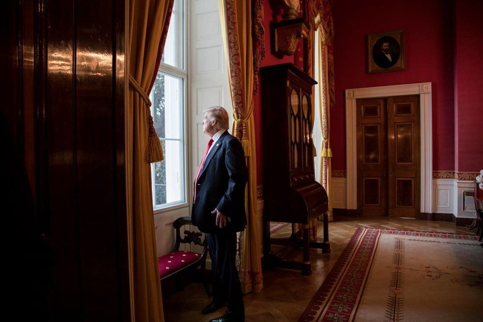 Donald J. Trump in White House Red Room (Jan. 20, 2017, Shealah Graighead)