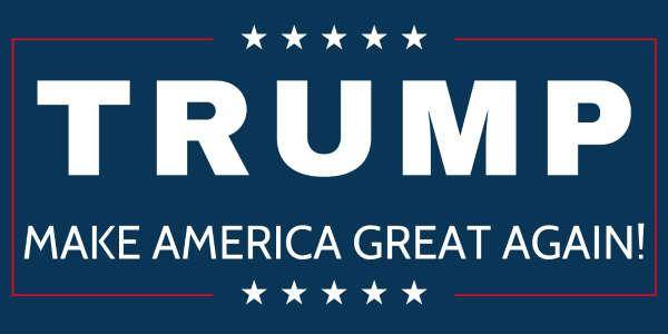 donald trump make great logo