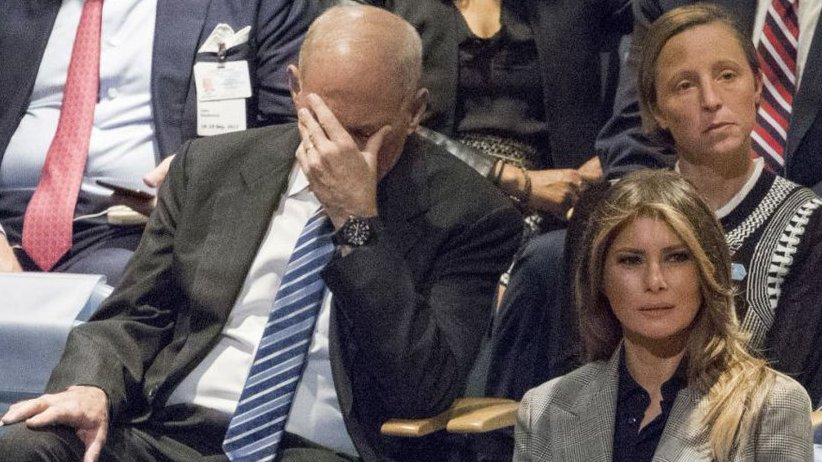 White House Chief of Staff John Kelly with Melania Trump at Trump United Nations speech Sept. 19, 2017