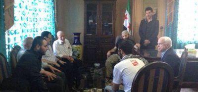 John McCain Free Syrian Army, Ibrahim Al-Badri May 2013
