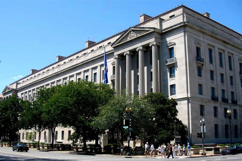 Justice Department Headquarters in Washington, DC (Justice Department photo)
