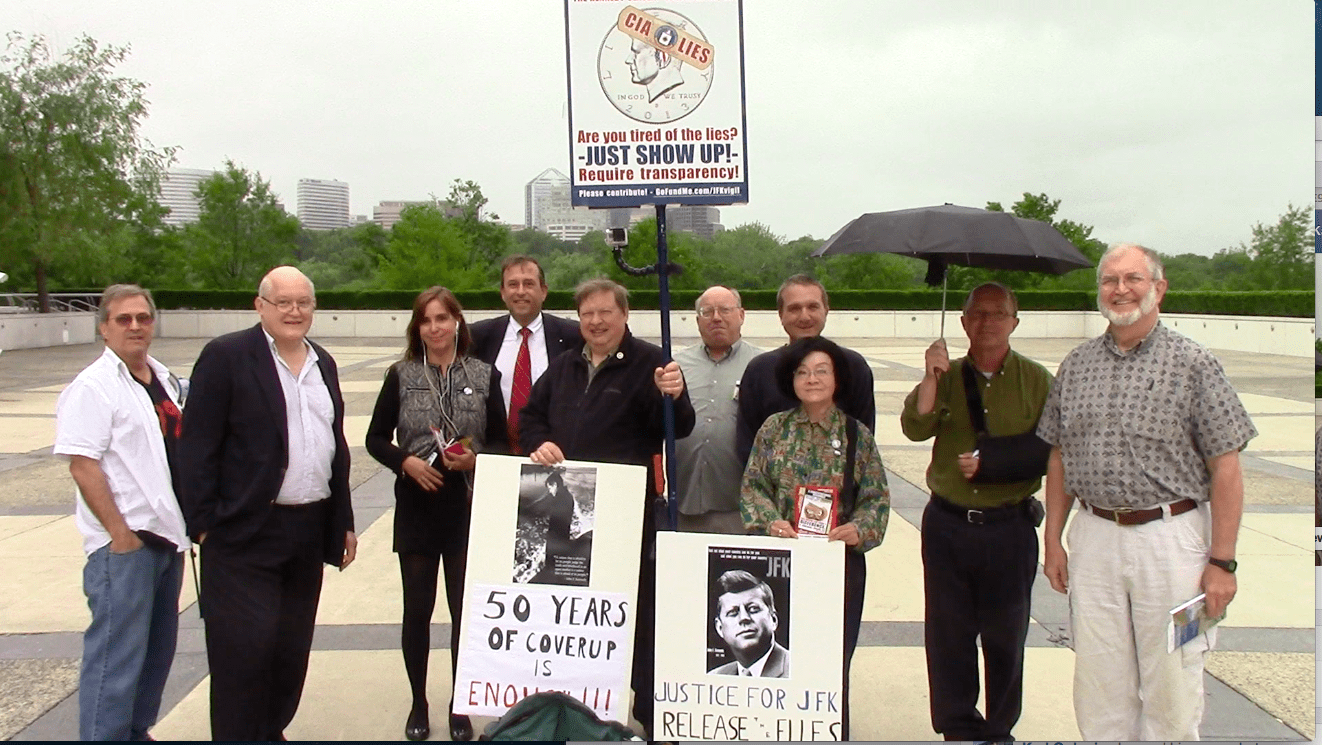 Karl Golovin and JFK Vigil at Kennedy Center, May 29, 2014