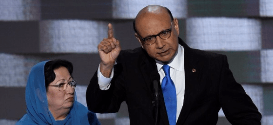 Khiz Khan and wife Ghazala Khan at Democratic National Convention