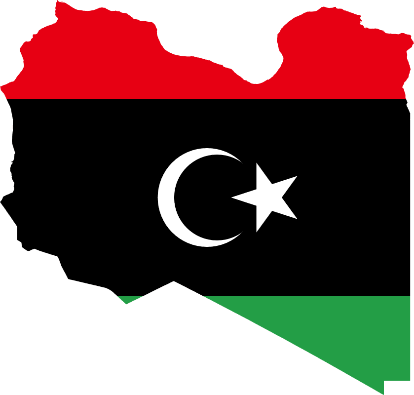 Libya Flag map