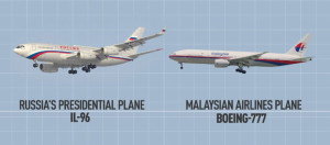 Mayaysia airliner comparison with Putin airplane