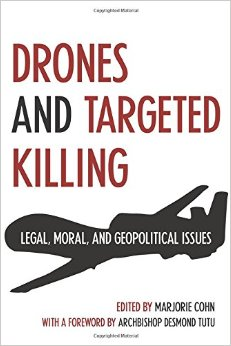 "Marjorie Cohn book cover on ""Drones and Targeted Killings"""