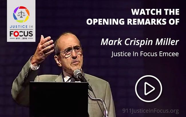 Mark Crispion Miller Justice in Focus promo Sept. 11, 2016