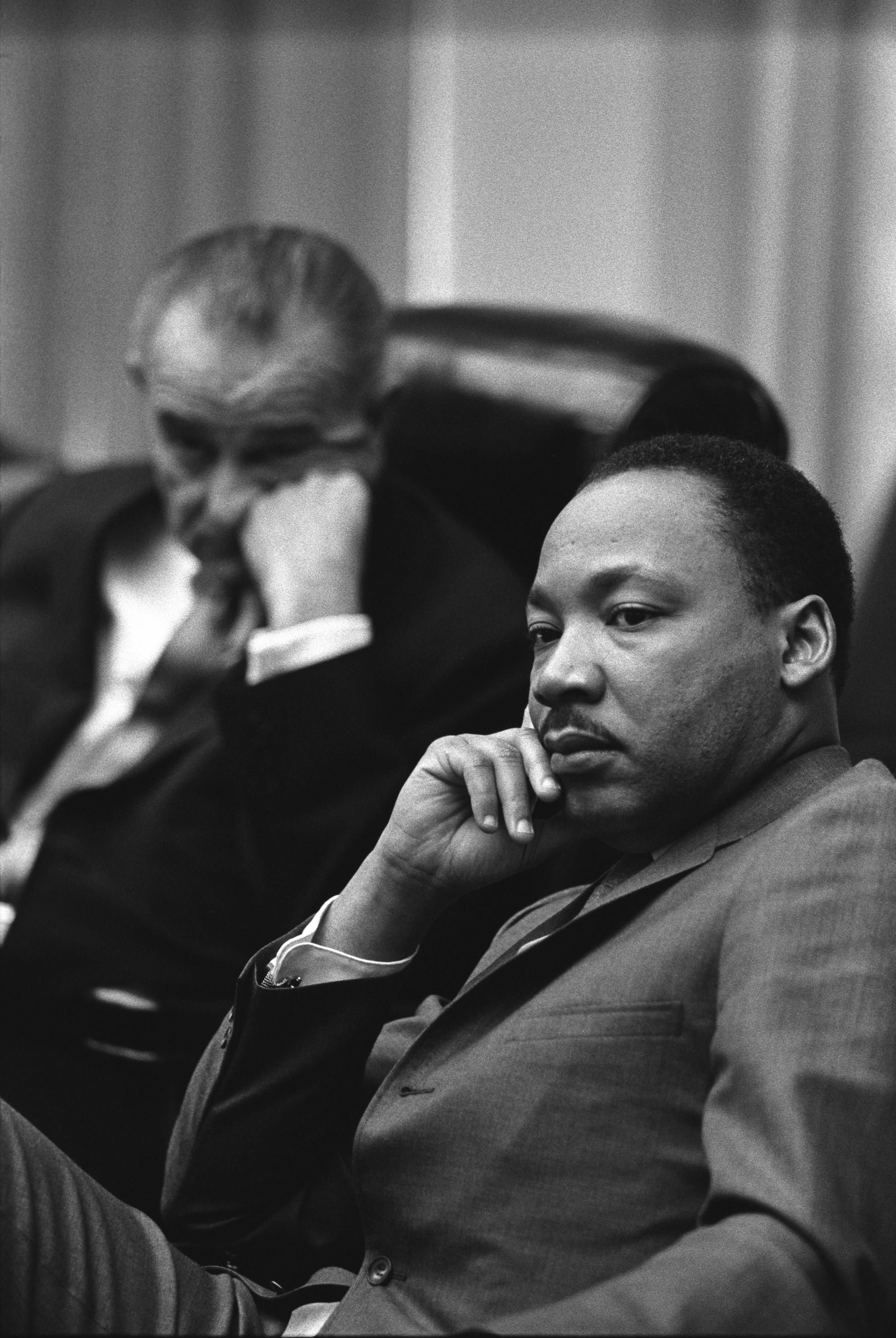 Dr. Martin Luther King Jr. and President Lyndon B. Johnson