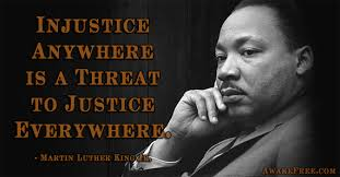 Martin Luther King injustice quotation