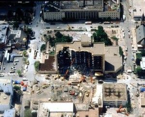 Murrah Building in Oklahoma City 2001 Army Corps of Engineers Aerial Photo