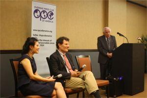 Nicholas Kristoff, Sheryl WuDunn at opc 11_10_2014