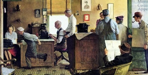 Norman Rockwell painting of Country Editor, owned by National Press Club.