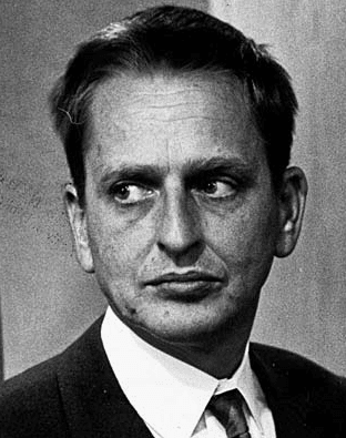 Olol Palme, late prime minister of Sweden 1968 photo via Wikimedia