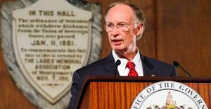 Gov. Robert Bentley delivers the 2015 State of the State Address, Tuesday, March 3, 2015, in the Old House Chamber of the Alabama State Capitol in Montgomery. (Governor's Office, Jamie Martin)