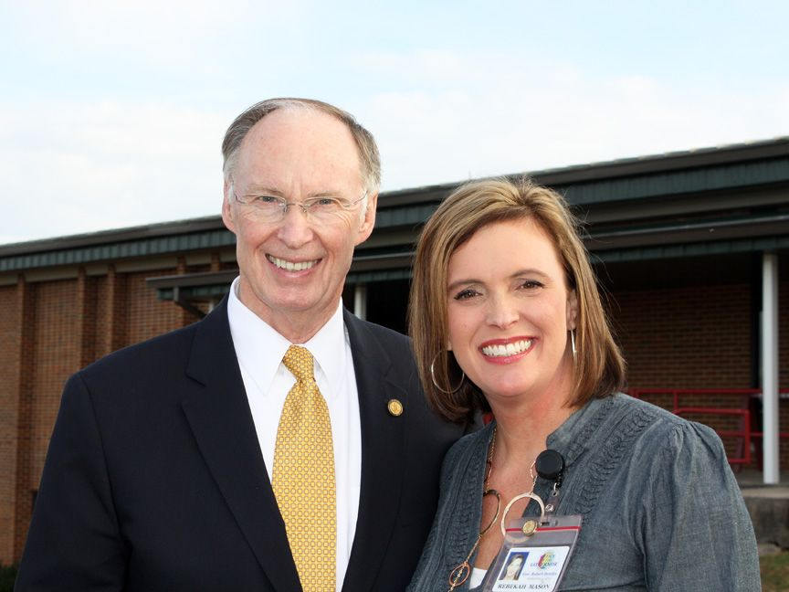 Alabama Gov. Robert Bentley, with former Communications Director Rebekah Mason