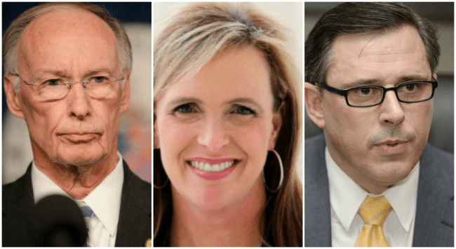 Alabama Gov. Robert Bentley, Top Strategist Rebekah Mason and former Alabama law enforcement chief Stephen Collier WKRG