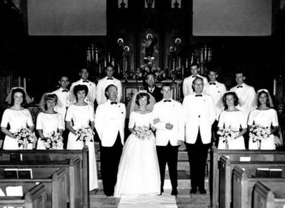 Robert and Dianne Bentley 1965 wedding
