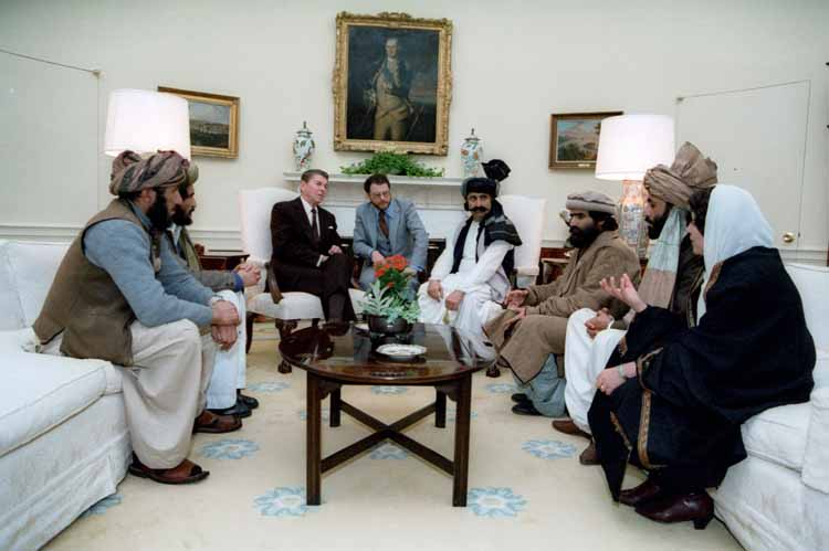 Ronald Reagan meets mujahideen leaders at White House (Reagan Library)