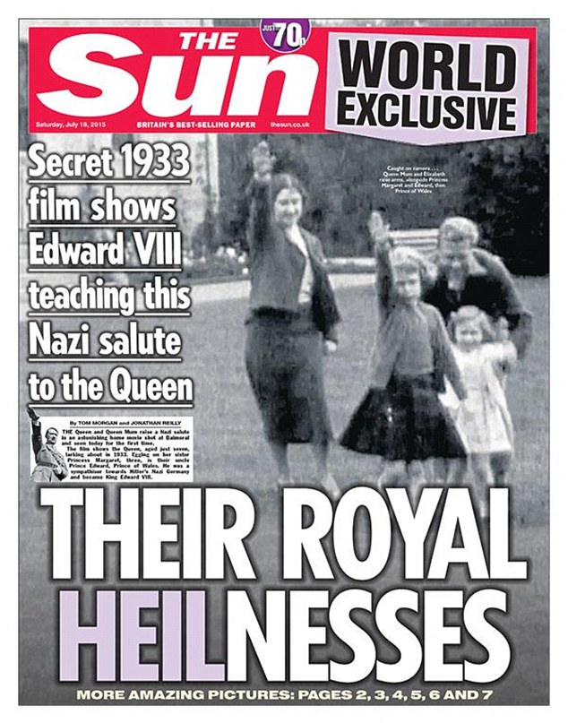 UK Royal Family in Hitler Salute
