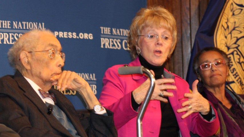 Simeon Booker, Carol McCable Booker and Judy Richardson