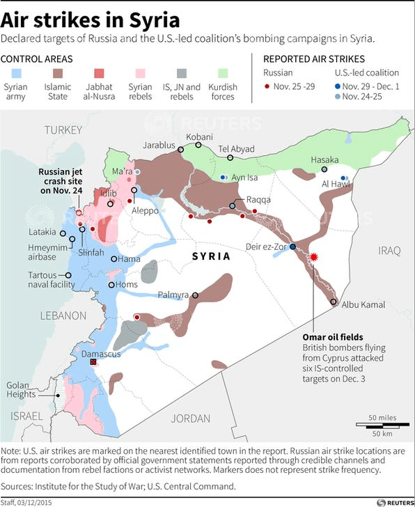 Syria CENTCOM Map via Reuters