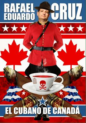 Ted Cruz Canadian caricature