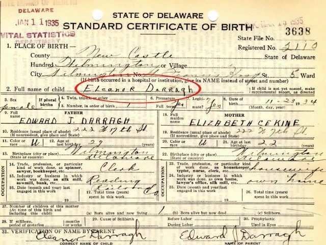 Ted Cruz's mother's birth certificate