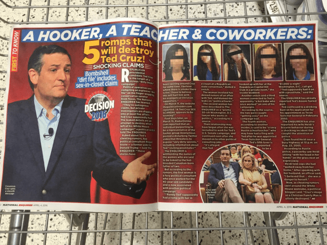 Ted Cruz National Enquirer Story