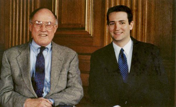 Ted Cruz and William Rehnquist 1996 Ted Cruz Campaign