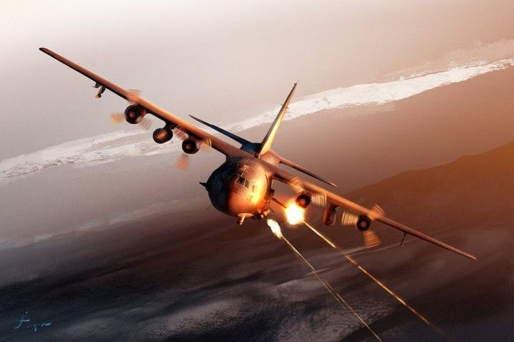 US AC-130 Gunship Defense Department Photo