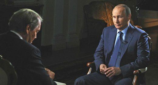 Vladimir Putin, Charlie Rose CBS 60-minutes Sept. 27, 2015 show, Kremlin Photo